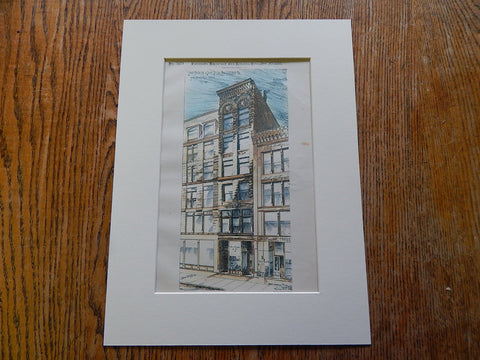 Ben Hagaman Store, State Street, Chicago, 1886. Hand Colored Original Plan