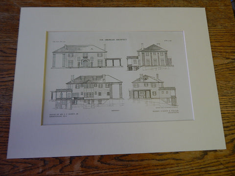 J.C. Maben House, Birmingham, AL. Warren & Welton, Architects 1909 Original Plan