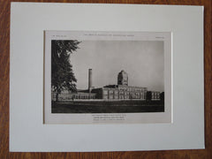 Senior High School, Bay City, MI, Perkins, Fellows & Hamilton, 1923, Lithograph