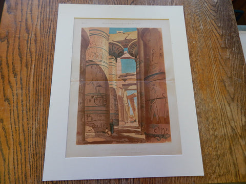 Hypostyle Hall, Temple at Karnak, Luxor, Egypt, Arthur Rotch, 1881, Original.