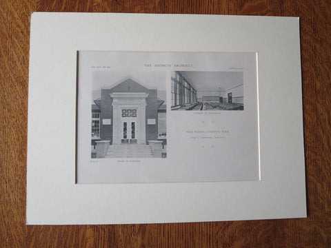 High School, Cordova, TN, Jones & Furbringer, 1918, Lithograph