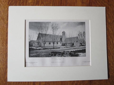 Christ Church, Canon City, CO, T. MacLaren, Archt., 1905, Lithograph