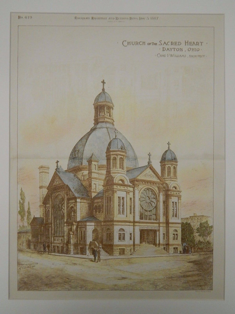 Church of the Sacred Heart, Dayton, OH, 1887, Original Plan