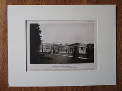 Hempstead High School Exterior, Hempstead, NY, Ernest Sibley, 1923, Lithograph