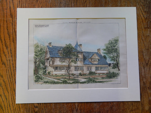 House at Bangor, Maine, William Bates, Architect, 1890, Original Plan