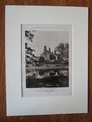L.H. Shearman House, Exterior, Lakeville, NY, James O'Connor, 1921, Lithograph