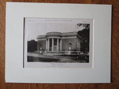 Library at Charlottesville, VA, Walter D. Blair, 1923, Lithograph
