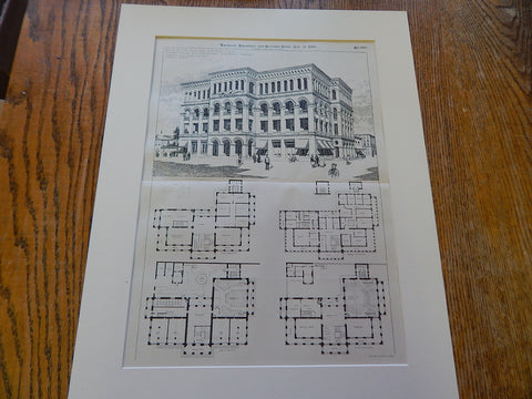 YMCA, Madras, India, Merrill & Cutler, 1896, Original Plan.