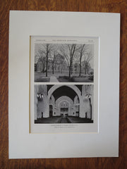 Central Park M.E. Church, Buffalo, NY, Bolton & Sons, 1928, Lithograph