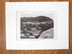Ancon Hospital Buildings, Ancon, Panama Canal Zone, S. Hitt, 1919, Lithograph