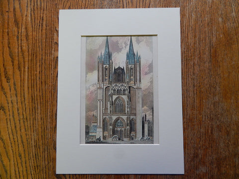 Cathedral Church of Notre Dame at Coutances, France. 1885. Original Plan
