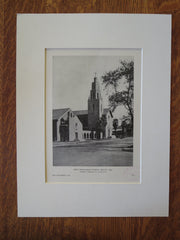 First Presbyterian Church, Phoenix, AZ, Norman F. Marsh & Co., 1929, Lithograph