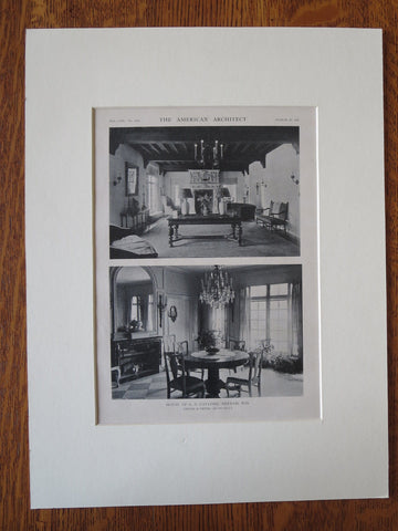 G.S. Gaylord House, Interior, Neenah, WI, Childs & Smith, 1921, Lithograph