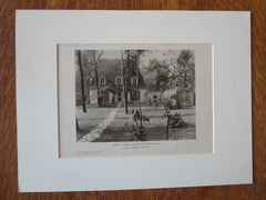 William B. Moulton House, Garden, Winnetka, IL, R. S. Walcott, 1924, Lithograph
