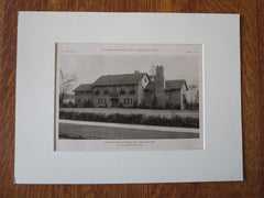 John Stockwell, Esq. House, Cleveland, OH, Meade & Hamilton, 1923, Lithograph