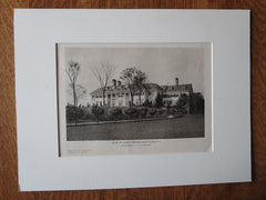 Charles Smithers House, White Plains, NY, Donn Barber, F.A.I.A, 1924, Lithograph