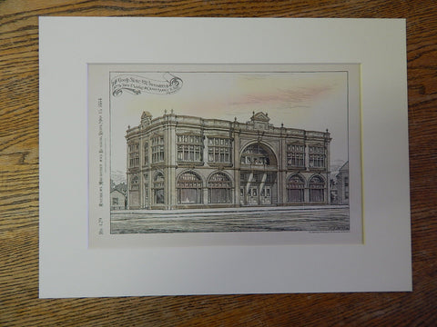 T Wright, Dry Goods Store, Birmingham, AL, 1884, O Marble, Archt., Original Plan