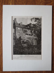 A.K. Laflin House, Fieldston, NY, Dwight James Baum, 1924, Lithograph
