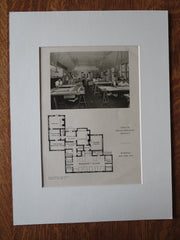 Office of Dwight James Baum, Architect, Riverdale, NY, 1924, Lithograph