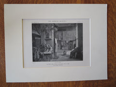 Building Interior, 200 West 57th Street, NY, Cass Gilbert, 1918, Lithograph
