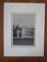 Peoples Trust Co., Exterior, Tamaqua, PA, Tooker & Marsh, 1921, Lithograph