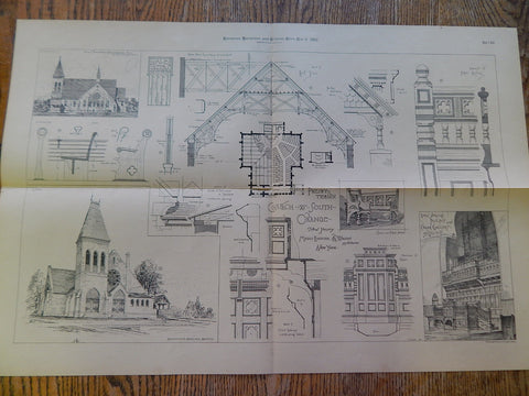 Church, South Orange, New Jersey, Rossiter & Wri, Architect, 1882, Original Plan