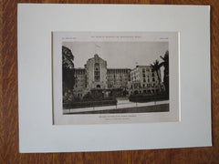 New Colonial Hotel, Exterior, Nassau, Bahamas, K. M. Murchison, 1923, Lithograph