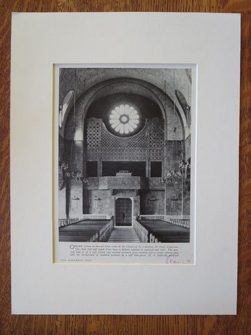 Chapel of St. Catherine, St. Paul, MN, H.A. Sullwold, 1929, Lithograph