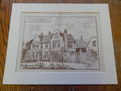 D. Donovan Residence, Erdington. Essex, Nicol & Goodman, 1893, Original Plan.