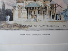 Passenger Station, Washington, PA, 1911, Original Plan. Price & McLanahan