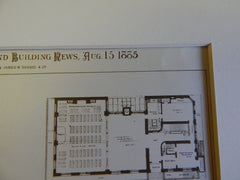 News Boys Lodging House, New York, 1885, R H Robertson, Archt., Original Plan