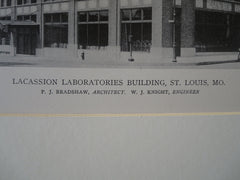 Lacassion Laboratories, St. Louis, MO, P.J. Bradshaw, Arch., 1918, Lithograph