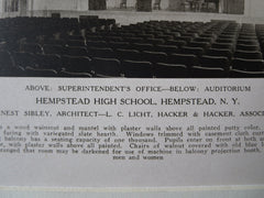 Hempstead High School Auditorium, Hempstead, NY, Ernest Sibley, 1923, Lithograph