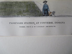 Passenger Station, Converse, IN, 1911, Original Plan. Price & McLanahan, Arch