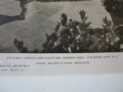 Haddon Hall Garden, Atlantic City, NJ, Rankin, Kellogg, Crane, 1926, Lithograph