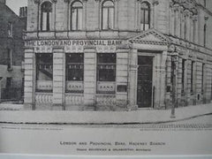 London and Provincial Bank, Hackney Branch, England, 1900. Bourchier & Galsworthy