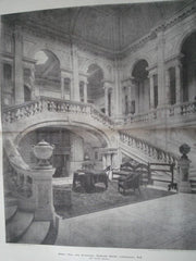 Great Hall & Staircase: Gosford House, Longniddry, Scotland, 1895. W. Young. Photo