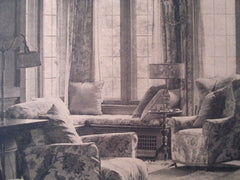Living Room: House for Mr. Wooster Lambert, St. Louis MO, 1926. La Beaume & Klein