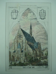 Church of St. Alban in Leeds, England, 1880. J. T. Walford. Original Plan