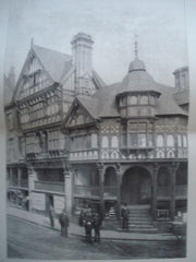 New Premises: The Cross, Chester, England, 1890. T. M. Lockwood. Photo