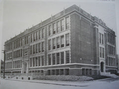 Laurel Hill Avenue School, Providence RI, 1916. Clarke & Howe. Lithograph