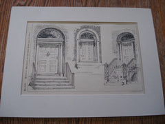 Old Doorways, Trenton, NJ, 1891. Lithograph