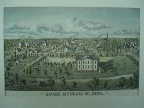 Scene of Osage, Mitchell County IA. Andreus Atlas, 1874