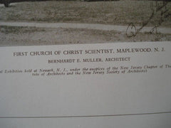 First Church of Christ Scientist, Maplewood NJ, 1927. Bernhardt E. Muller. Lithograph