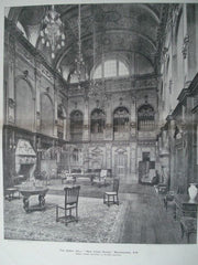 Great Hall: New Craig House, Morningside, Scotland, 1896. Sydney Mitchell & Wilson