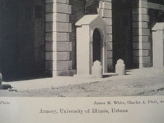 Armory, University of Illinois in Urbana IL, 1927. James M. White, Charles A. Platt