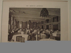 Dining Room:Missouri Athletic Association, St. Louis MO, 1916.G.F.A. Brueggeman and Wm. B. Ittner