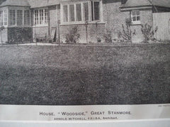 """Woodside"" in Great Stanmore, England, 1895. Arnold Mitchell. Photo"