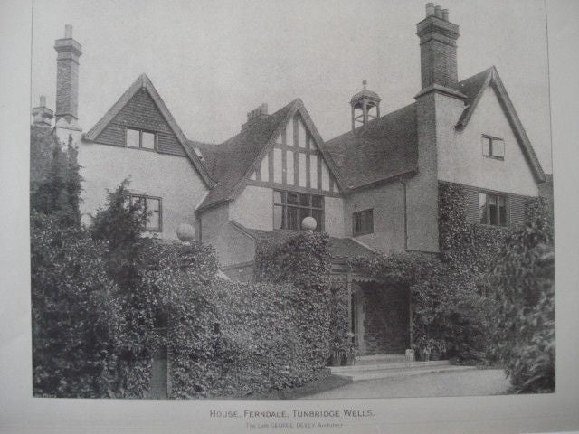 House, Ferndale in Tunbridge Wells, England, 1890. George Devey. Photo