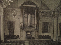 Great Hall: Town-Hall in Colchester, England, 1904. John Belcher. Lithograph